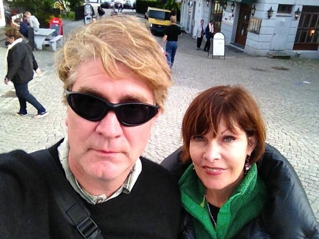 Brian Haas in Norway with Wife
